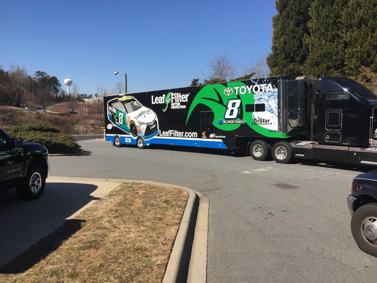 LeafFilter NASCAR Trailer TriStar Motorsports Blake Koch