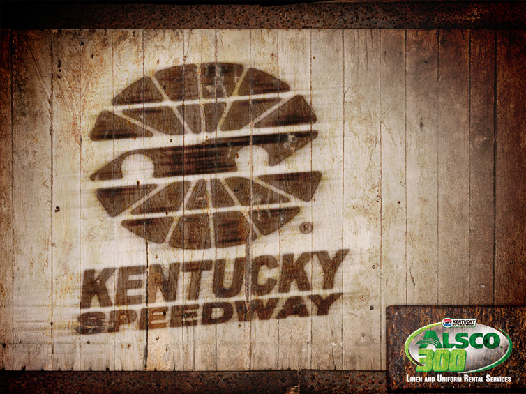 Kentucky Speedway Wood Burned Image