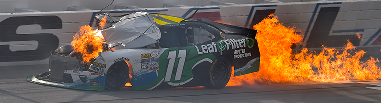 Green is usually seen as an unlucky color in NASCAR
