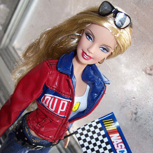 NASCAR Barbie is an empowering gift for young female race fans!