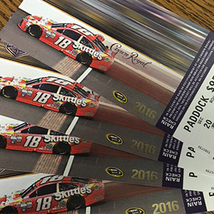 Tickets to a NASCAR XFINITY race make great gifts