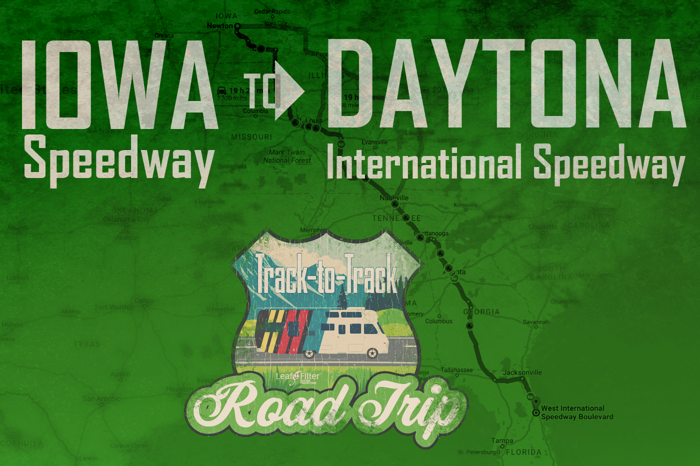 Track-to-Track Road Trip : Iowa Speedway to Daytona International Speedway