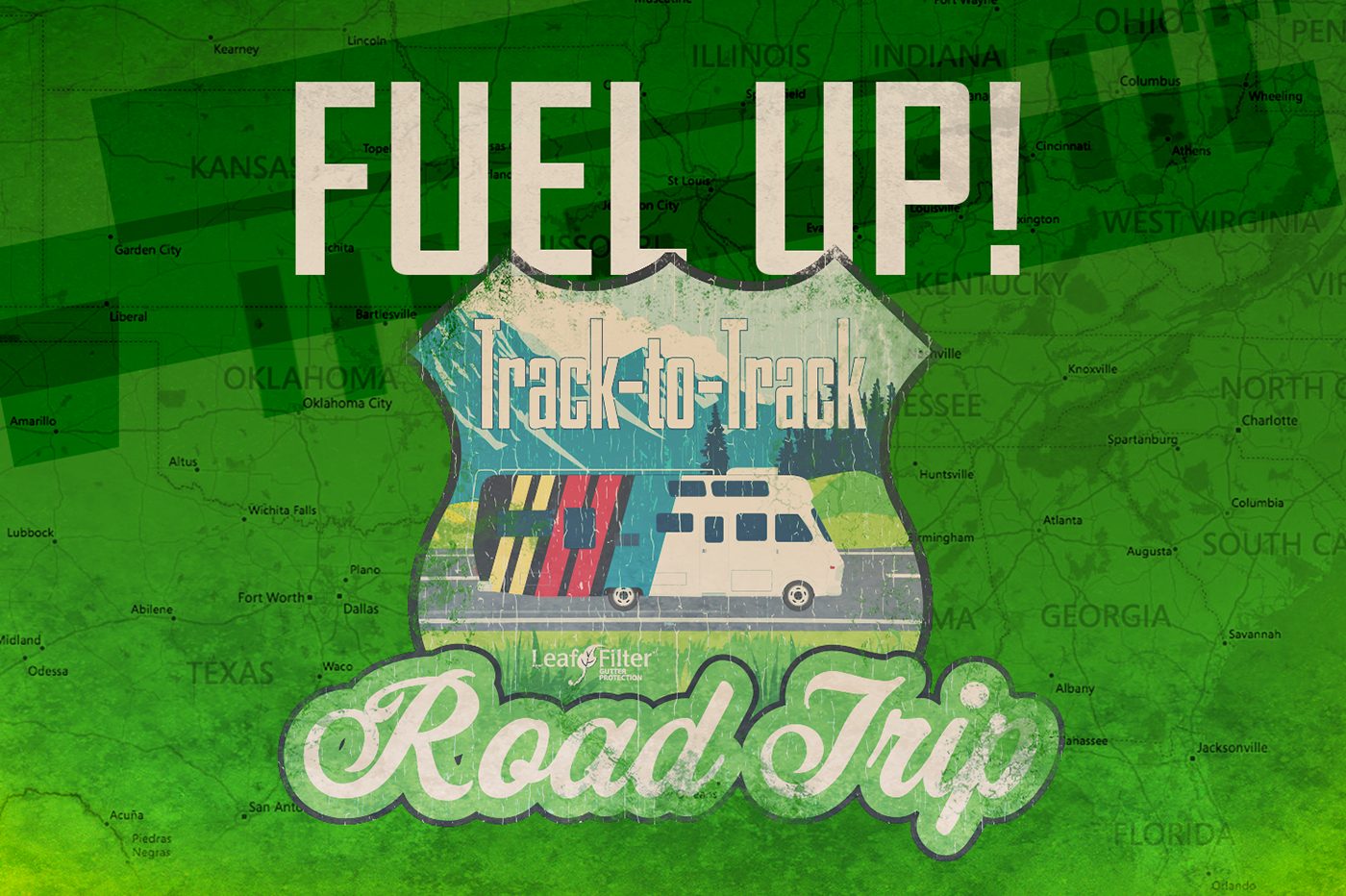 Fuel up for LeafFilter Racing's Track-to-Track Road Trip!